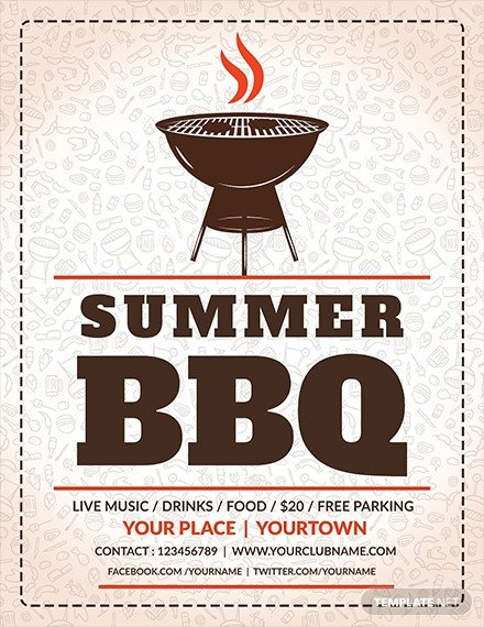 Free Bbq Flyer Template Free Employee Bbq Party Flyer Template Download 649
