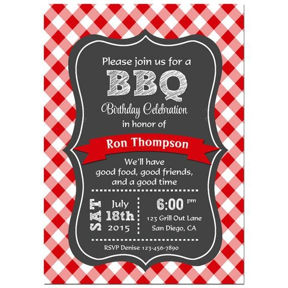 Free Bbq Invitation Template Bbq Invitation Printable or Printed with Free Shipping