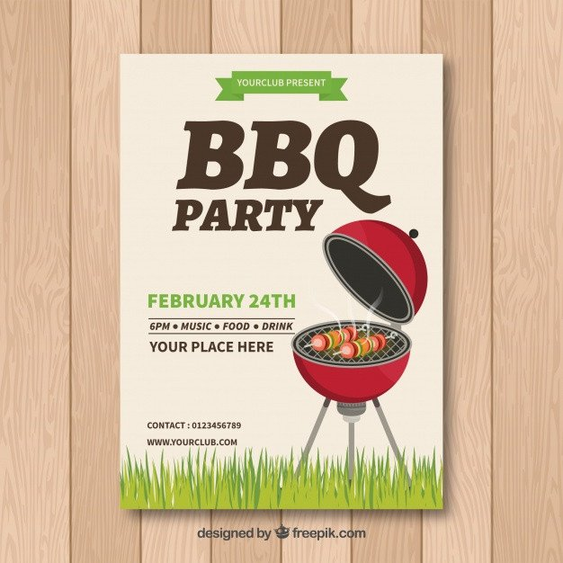 Free Bbq Invitation Template Bbq Invitation Template with Grill Vector