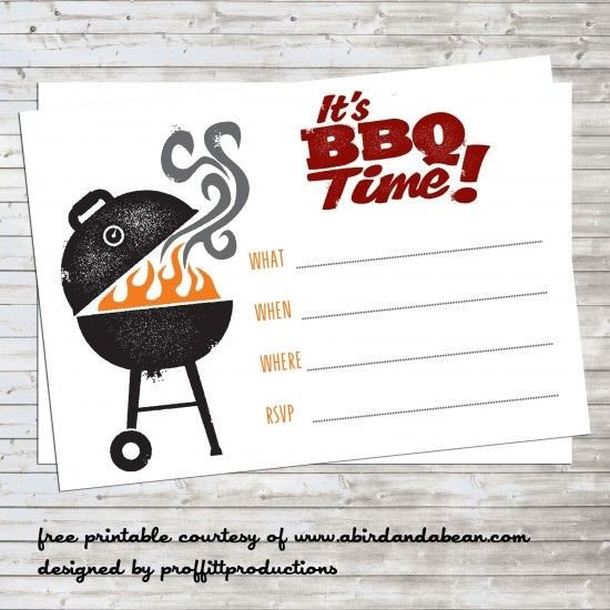Free Bbq Invitation Template Bbq Party Invitation Free Printable