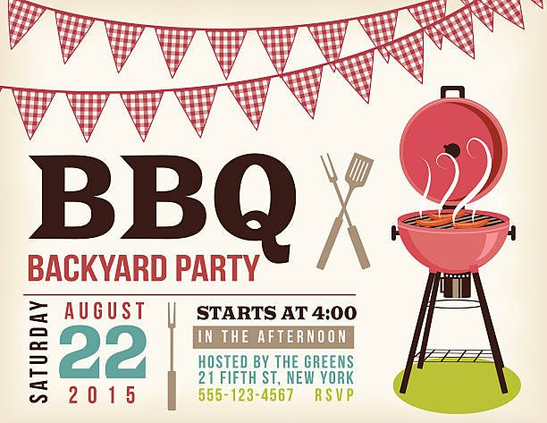 Free Bbq Invitation Template Best Potluck Illustrations Royalty Free Vector Graphics