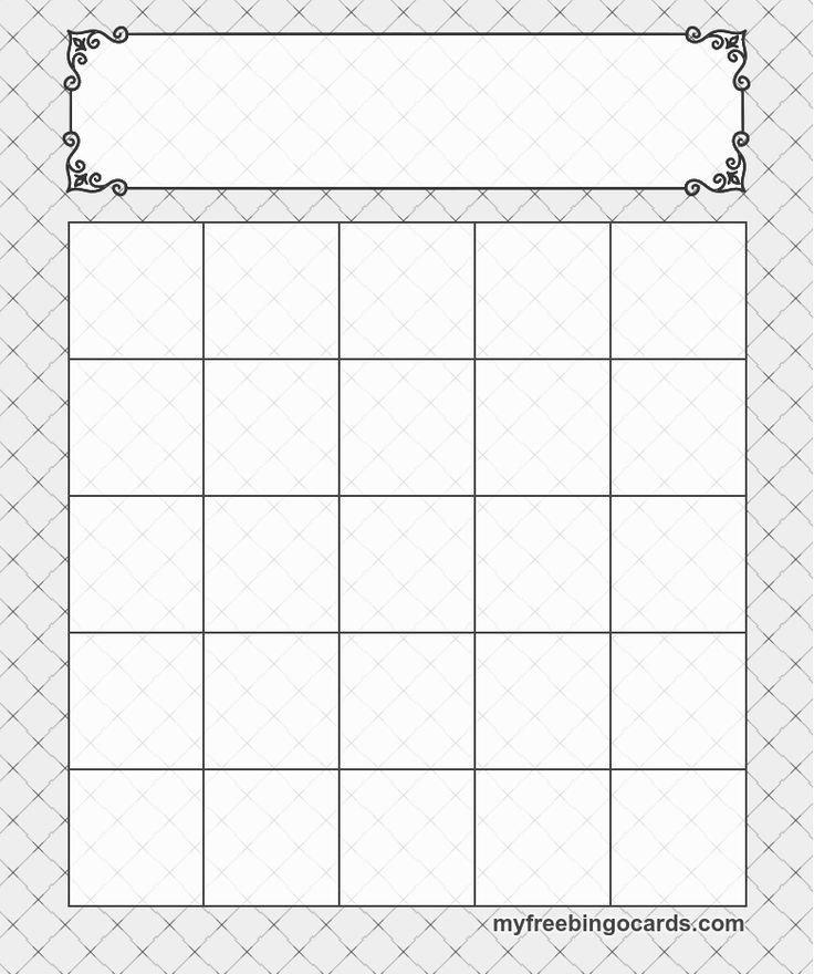 Free Bingo Card Template 5x5 Bingo Templates Cards