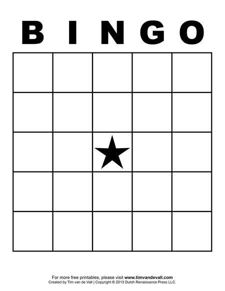 Free Bingo Card Template Best 25 Bingo Card Template Ideas On Pinterest