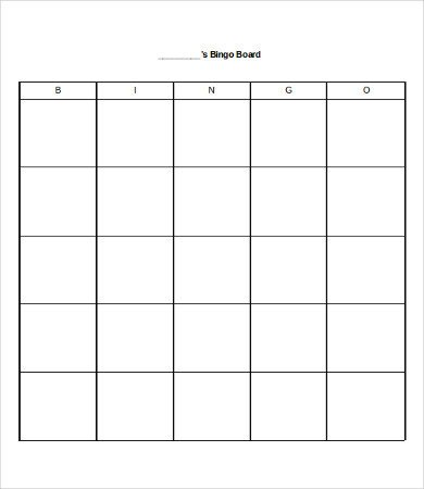 Free Bingo Card Template Bingo Card Template 8 Free Word Pdf Vector format
