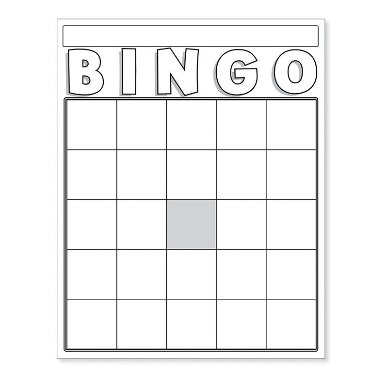 Free Bingo Card Template Blank Bingo Cards White Board & Card Games Line