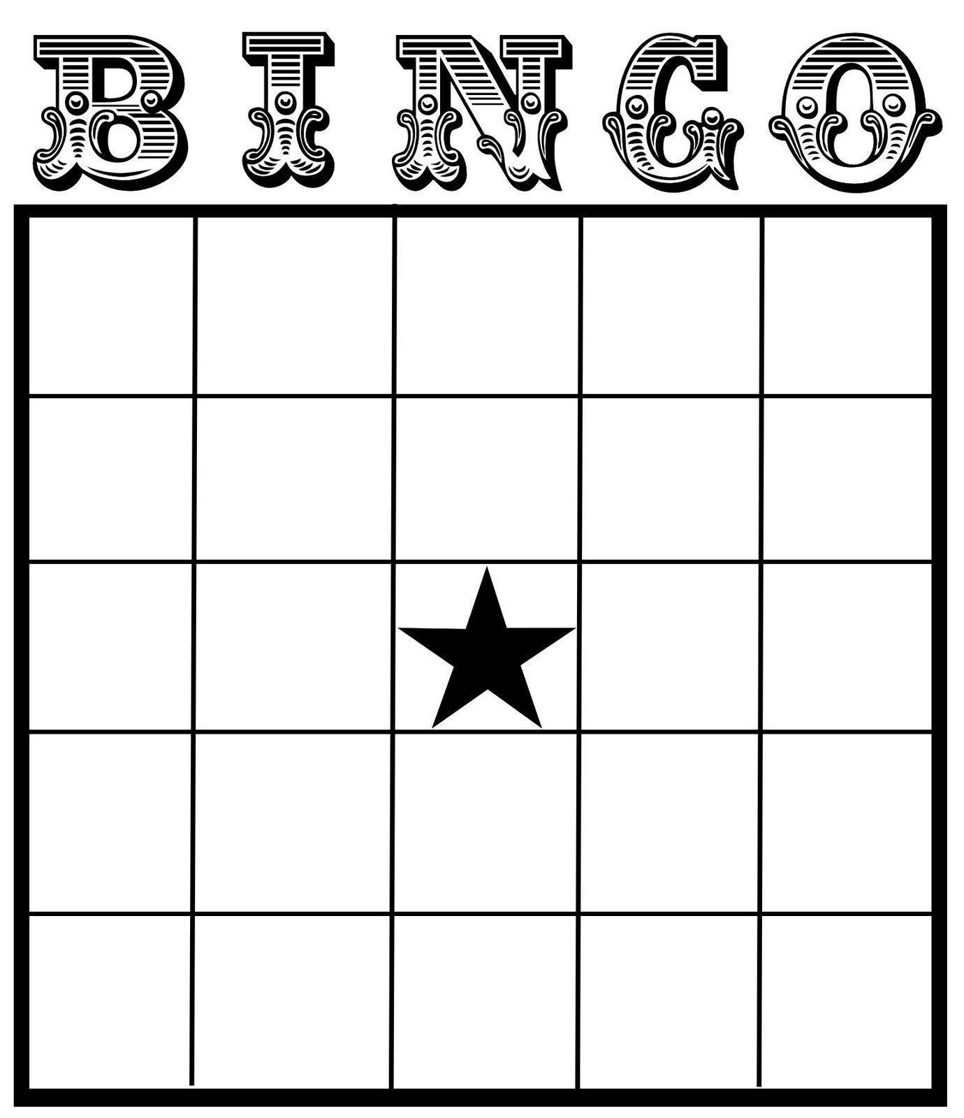Free Bingo Card Template Christine Zani Bingo Card Printables to