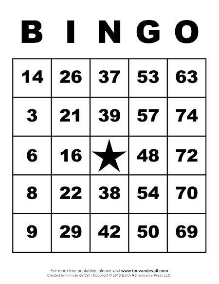 Free Bingo Card Template Printable Bingo Cards Art & Crafts for Kids