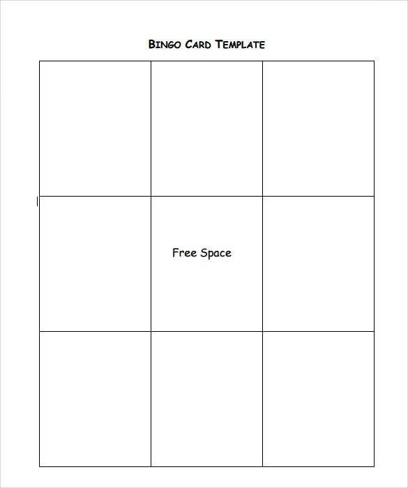 Free Bingo Card Template Sample Bingo Card 11 Documents In Pdf Word
