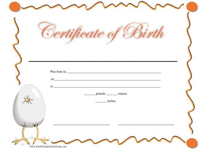 Free Birth Certificate Template 15 Birth Certificate Templates Word & Pdf Free