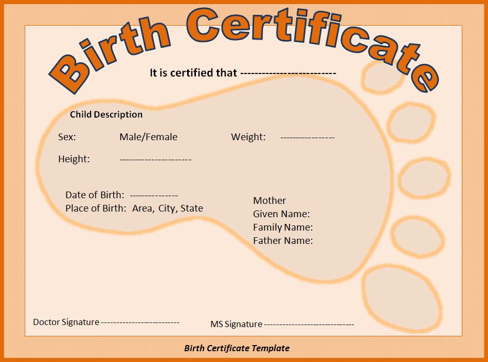 Free Birth Certificate Template Birth Certificate Template