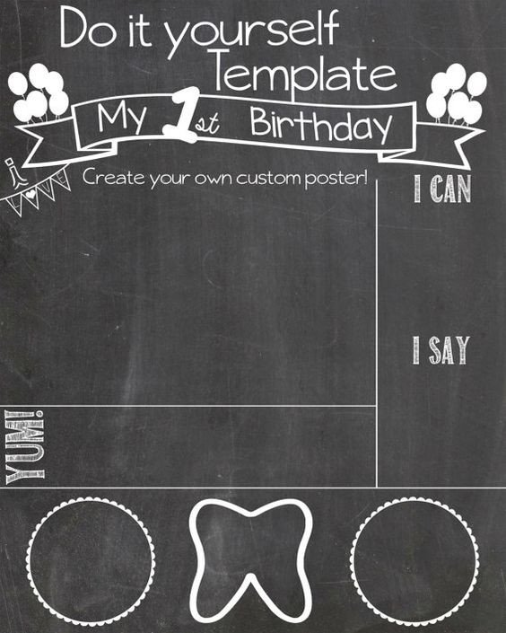 Free Birthday Chalkboard Template Pinterest • the World's Catalog Of Ideas