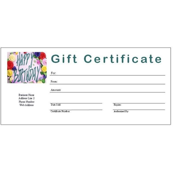 Free Birthday Gift Certificate Template 6 Free Printable Gift Certificate Templates for Ms Publisher