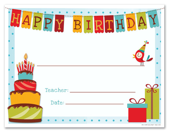 Free Birthday Gift Certificate Template Happy Birthday Gift Certificate Template