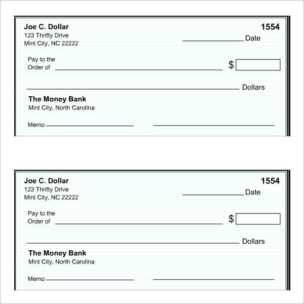 27 Blank Check Template Download [Word PDF] Templates