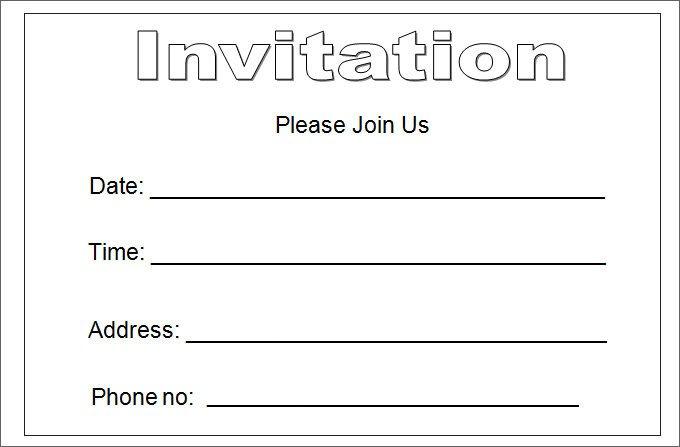 27 Best Blank Invitation Templates PSD AI