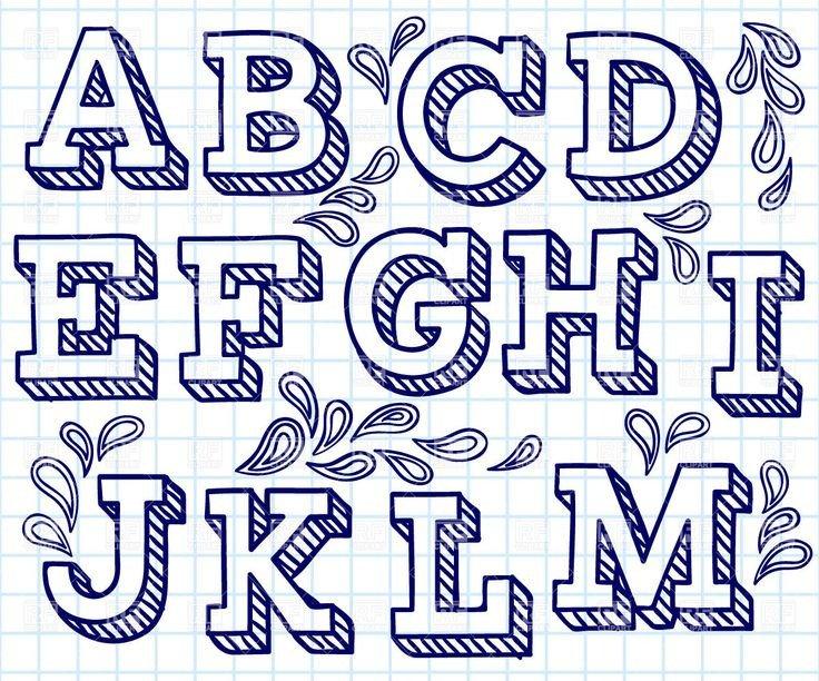 25 Best Ideas about Block Letter Fonts on Pinterest