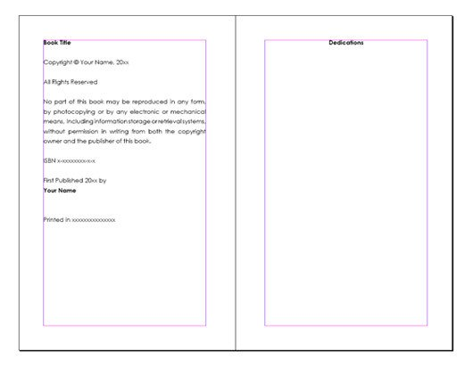 Free Booklet Template Word 13 Best S Of Book Layout Microsoft Word Free Word