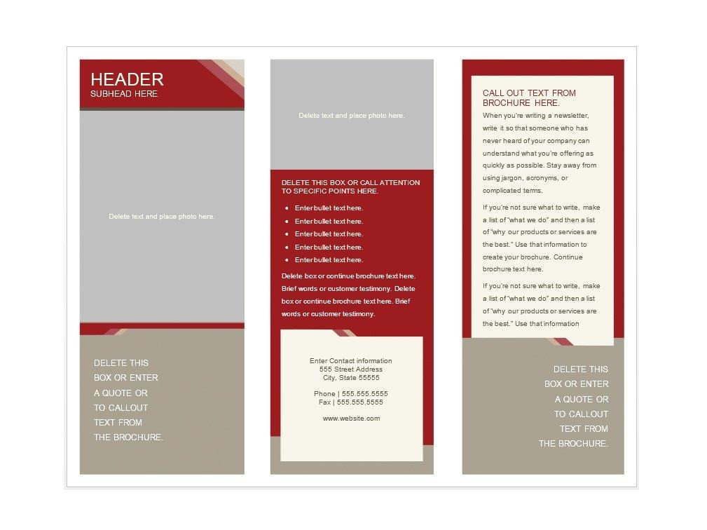 Free Booklet Template Word 31 Free Brochure Templates Word Pdf Template Lab