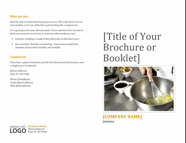 Free Booklet Template Word Booklet
