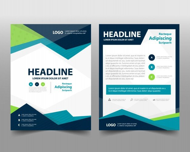 Free Booklet Template Word Business Brochure Template with Space for Text Vector