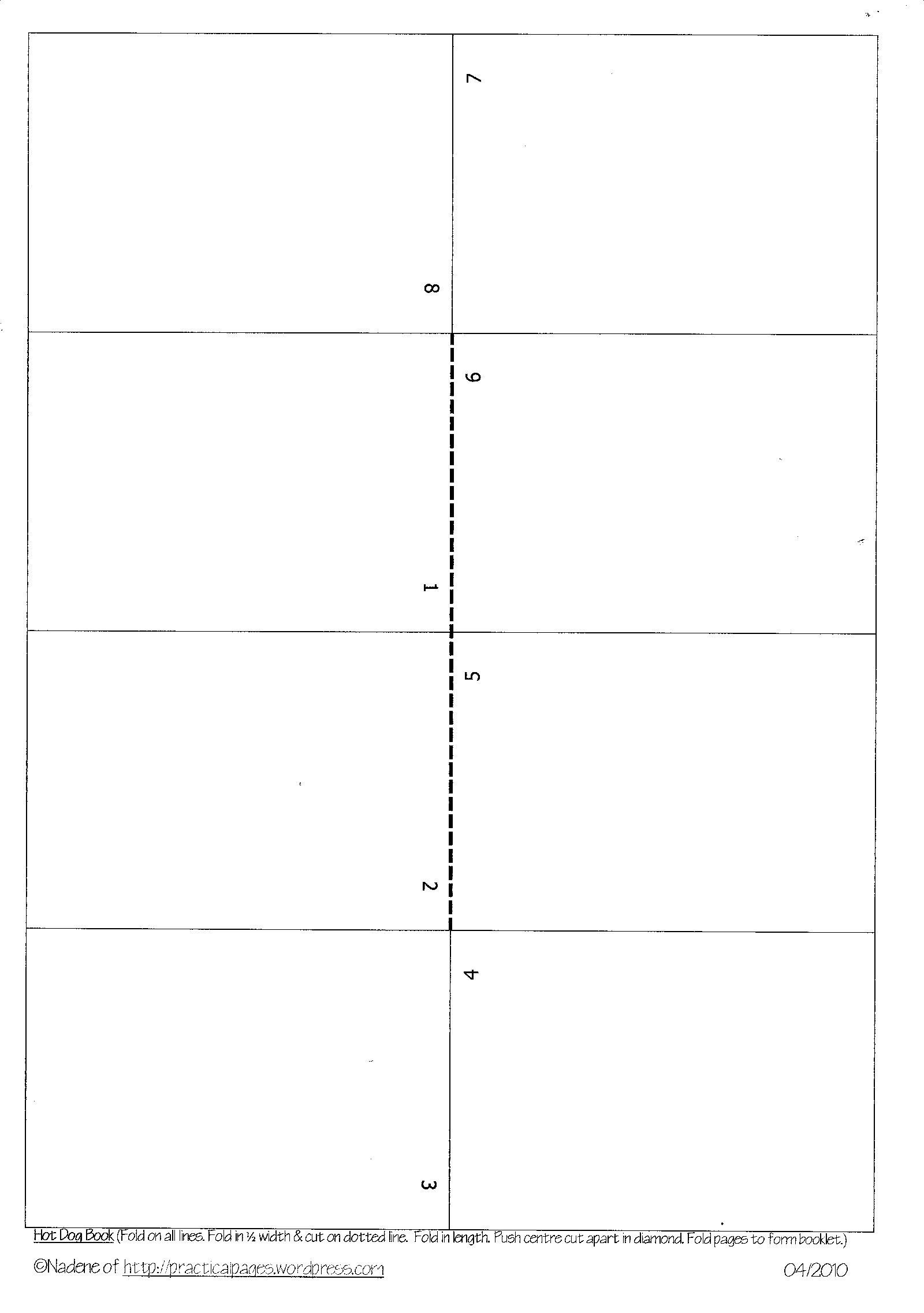 Free Booklet Template Word E Page Minibook Templates