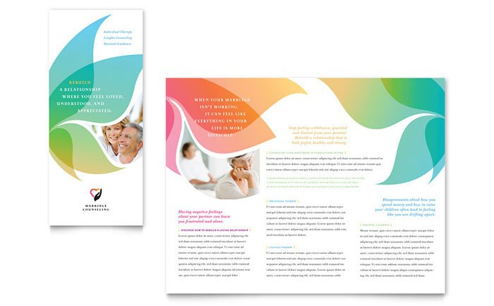 Free Booklet Template Word Marriage Counseling Tri Fold Brochure Template Design