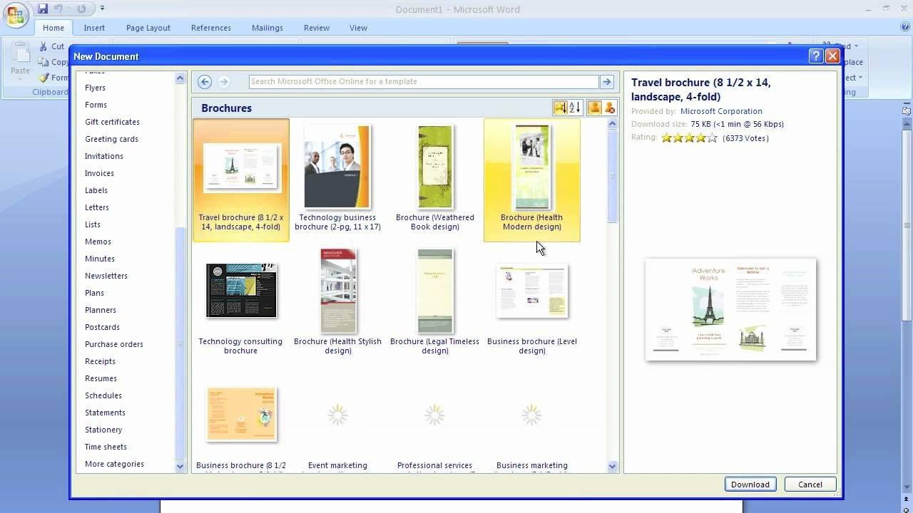Free Booklet Template Word Microsoft Word Brochure Template