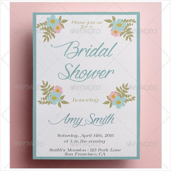 24 Bridal Shower Invitation Templates & Creatives Word