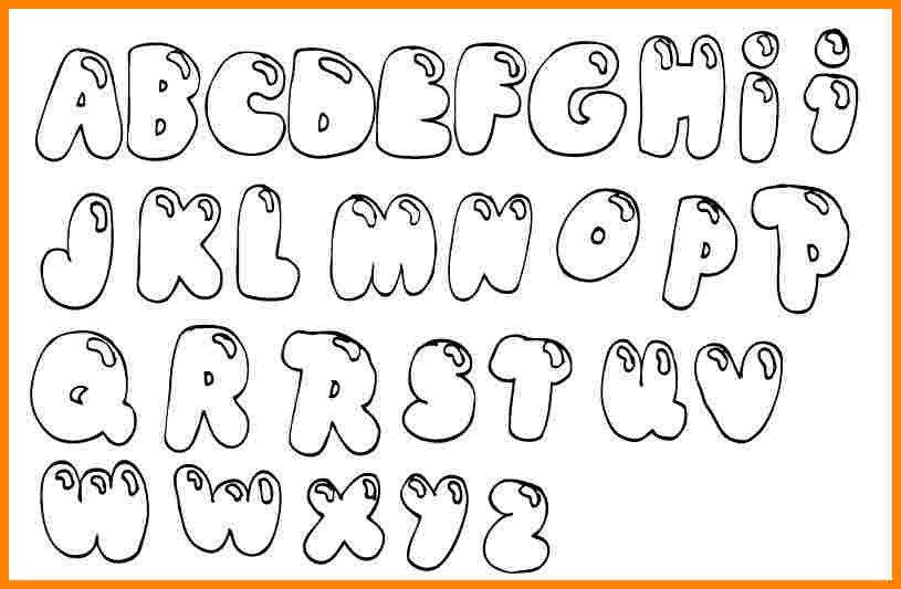 Free Bubble Letter Font Bubble Letters Coloring