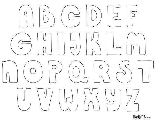 Free Bubble Letter Font Free Printable Bubble Letters
