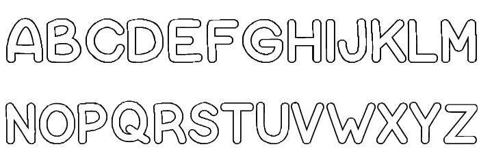 Bubble Letters Font free fonts