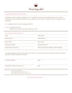 Free Cake Contract Template 1000 Images About Cake order forms On Pinterest