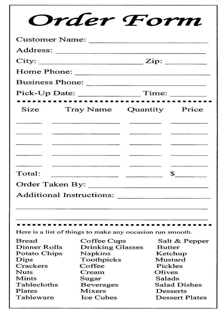 Free Cake Contract Template Cake Ball order form Templates Free