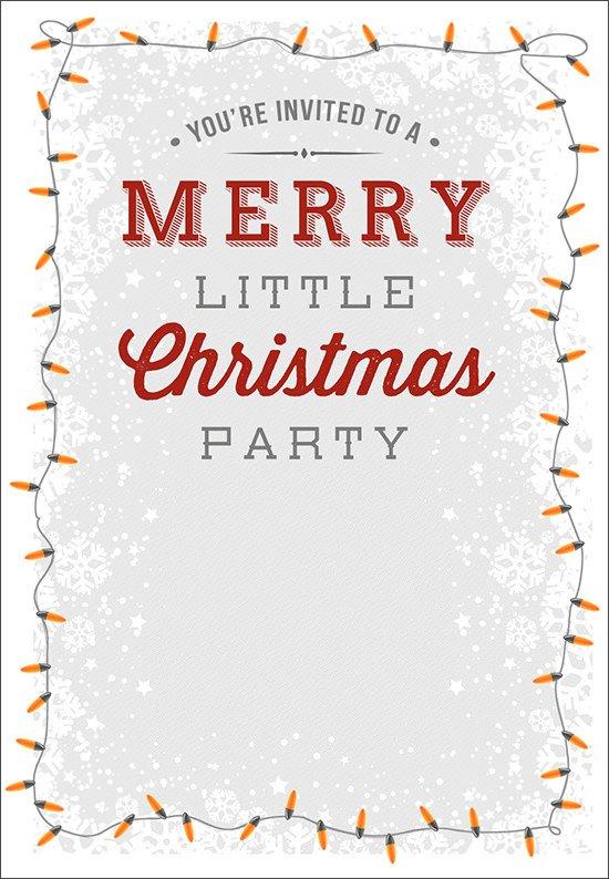 22 Printable Christmas Invitation Templates PSD Vector