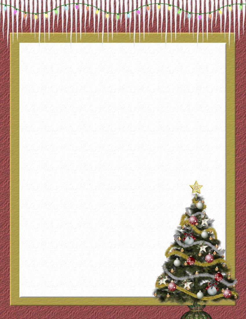 Free Christmas Stationery Templates Christmas 2 Free Stationery Template Downloads