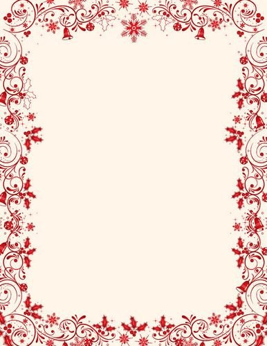 Free Christmas Stationery Templates Christmas Letterhead Classic Red Stationery