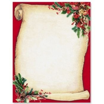 Free Christmas Stationery Templates Christmas Scroll Letterhead Border Papers