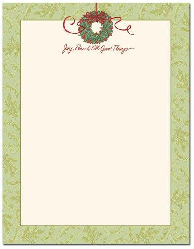 Free Christmas Stationery Templates Christmas Stationery Printer Paper
