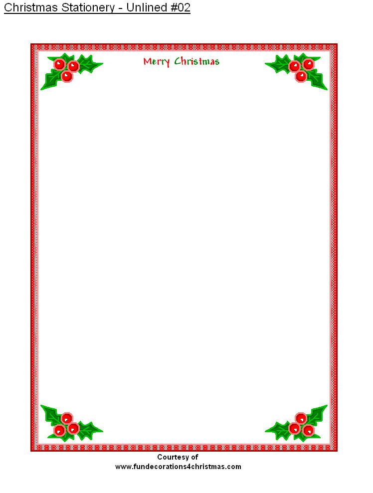 Free Christmas Stationery Templates Free Printable Stationery