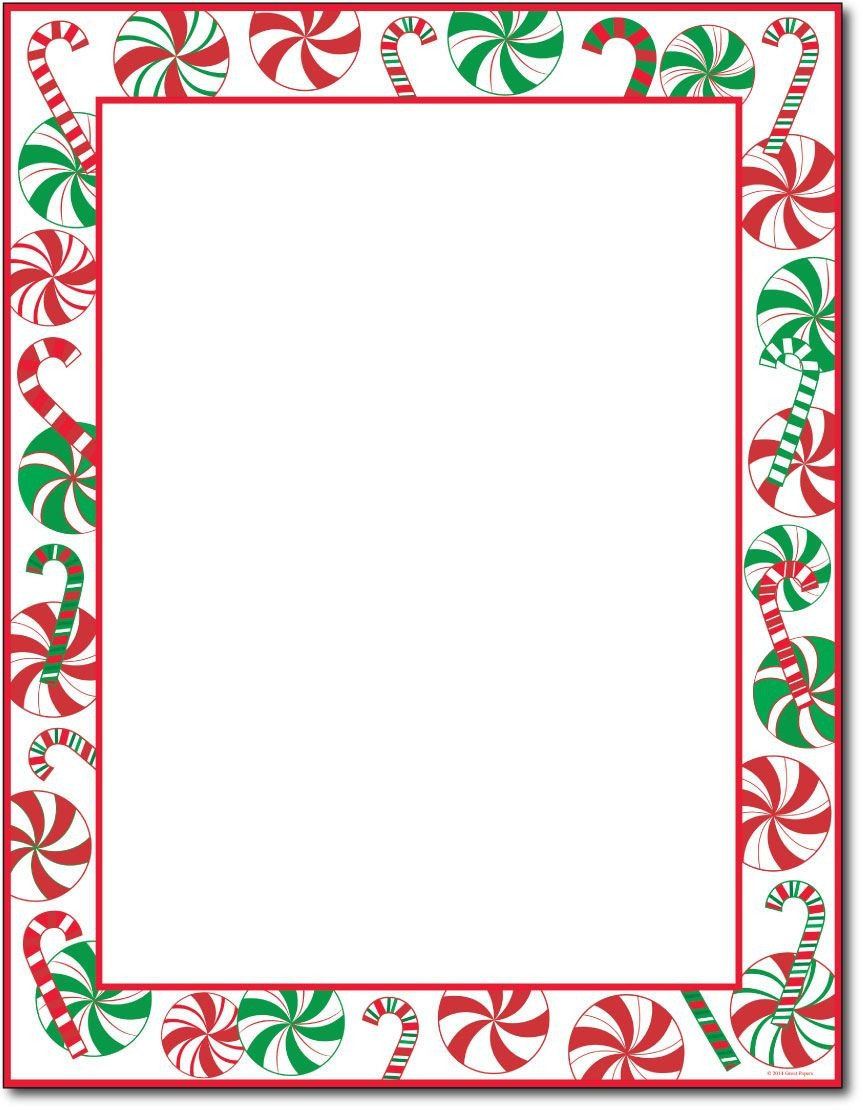 """Free Christmas Stationery Templates This Stationery Measures 8 1 2"""" X 11"""" and is Made On A"""