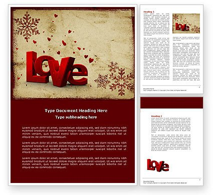 Free Christmas Templates for Word Free Christmas Love Word Template
