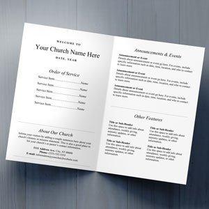 Free Church Bulletin Templates Church Bulletins Bulletin Printing Template