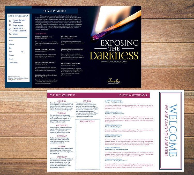 Free Church Bulletin Templates Free Church Bulletin Templates 8 Professionally Designed