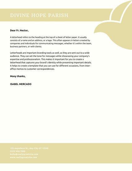 Free Church Letterhead Templates Customize 33 Church Letterhead Templates Online Canva