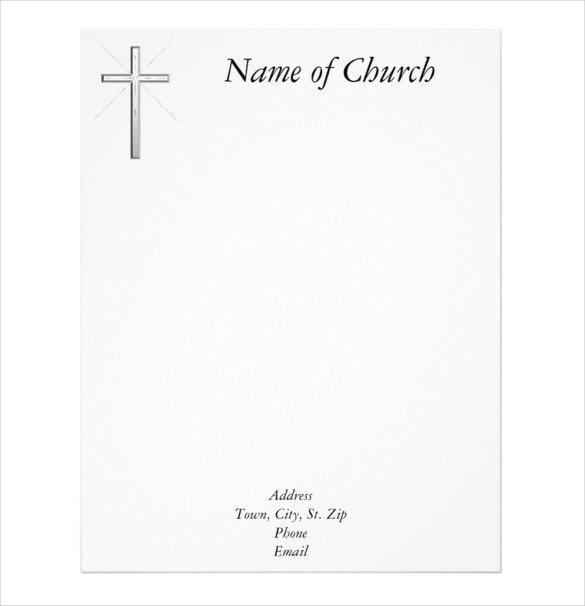Free Church Letterhead Templates Free Church Letterhead Templates