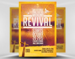 Free Church Revival Flyer Template Church Revival Flyer Template Flyerheroes