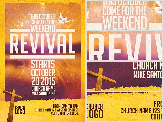 Church Revival Flyer Template FlyerHeroes