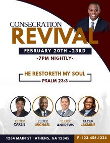 Free Church Revival Flyer Template Customize 3 250 Church Flyer Templates