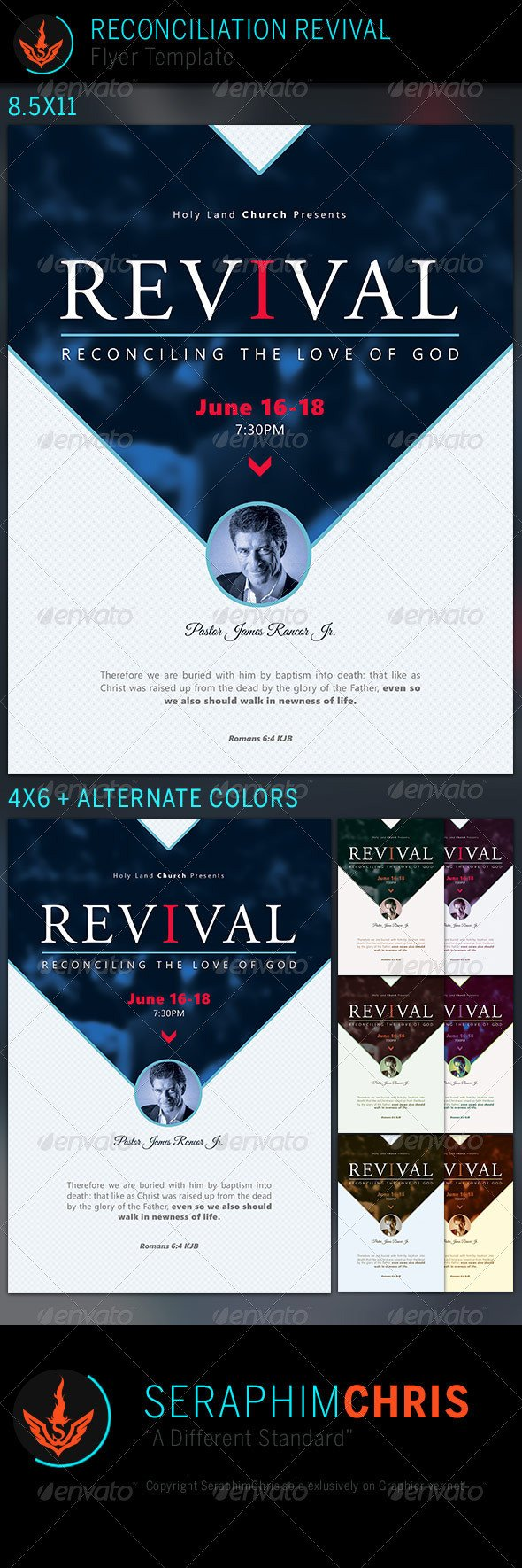 Free Church Revival Flyer Template Reconciliation Revival Church Flyer Template by