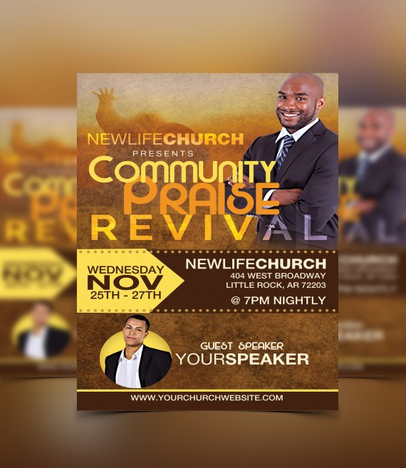 Free Church Revival Flyer Template Revival Flyer Template
